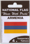 Armenia Country Flag Tattoos.